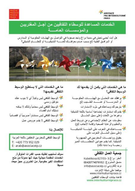 letáček v arabštině